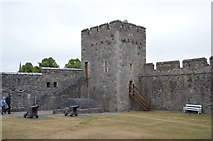 S0524 : North east tower, Cahir Castle by N Chadwick