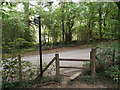 TQ5044 : Footpath stile near Chiddingstone by Malc McDonald