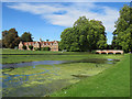 TL5238 : Audley End: the Stables, the Cam and the Stable Bridge by John Sutton