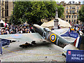 SJ8398 : RAF 100: Spitfire in Albert Square by David Dixon