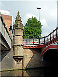 SK5804 : Bridges in Leicester city centre by Roger  Kidd