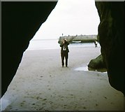 NZ3671 : Smuggler's Cave, Cullercoats by Stanley Howe