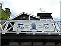 NT9952 : BARC boathouse - club logo by Stephen Craven