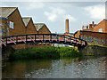 SK5705 : Canal arm on Frog Island in Leicester by Roger  Kidd