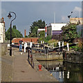 SK5805 : North Lock in Leicester by Roger  Kidd