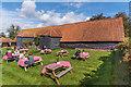 TQ1253 : Manor Farm Tithe Barn by Ian Capper