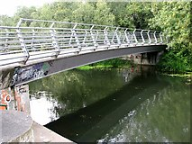 TG2209 : Bridge carrying the Marriott's Way over the River Wensum by Evelyn Simak