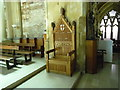 SO4838 : Chair at Belmont Abbey (Chancel) by Fabian Musto