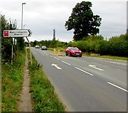 SP2031 : North Cotswolds Hospital direction sign, Moreton-in-Marsh by Jaggery
