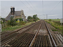 NU0445 : Goswick railway station (site), Northumberland by Nigel Thompson
