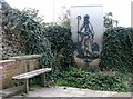 TG2208 : Seat by the site of St Benedicts Gate by Evelyn Simak