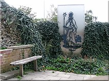TG2208 : Seat by (the site of) St Benedict's Gate by Evelyn Simak
