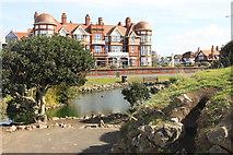 SD3228 : Grand Hotel and promenade gardens by John Tomlinson