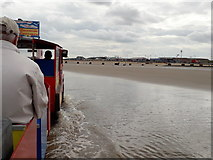 TF5085 : Mablethorpe: view from the train in the sea by Chris Downer