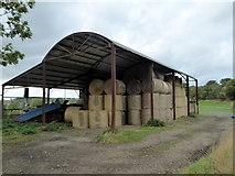 NZ2322 : Dutch barn, Highside Road near Heighington by pam fray
