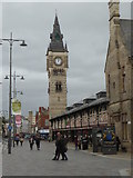NZ2814 : Darlington Market Hall and clock tower by pam fray