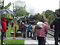 SO7680 : BR 'Britannia' No. 70000 heading to Arley Railway Station by Fabian Musto