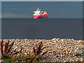 NH8257 : Shingle beach Carse of Delnies by valenta