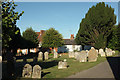 SU7450 : Churchyard, Odiham by Derek Harper