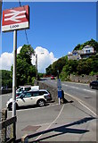 SX2553 : Looe railway station name sign by Jaggery