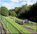 ST1794 : Wyllie playground by Jaggery
