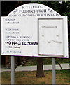 SO1106 : Information board outside St Tyfaelog Parish Church, Pontlottyn by Jaggery