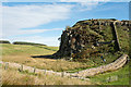 NY7567 : Most westerly rocks of Peel Crags by Trevor Littlewood