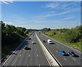 SD8608 : Looking south west from the bridge on the A6046 by JThomas