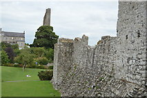 N8056 : Castle Walls and yellow steeple by N Chadwick