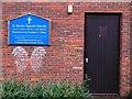 SU8034 : St Mark's Shared Church Door, Bordon, Hampshire - 190918 by John P Reeves