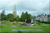 NY3704 : White Latts recreation ground, Ambleside by Robin Drayton