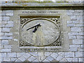 SU1368 : Sundial, the Church of St Michael and All Angels, West Overton by Brian Robert Marshall