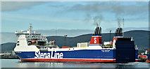 """J3677 : The """"Stena Forerunner"""", Belfast (September 2018) by Albert Bridge"""