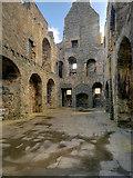 HU4039 : Main Hall, Scalloway Castle by David Dixon