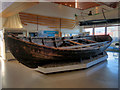 HU4741 : Shetland Museum and Archives: Sixareen in the Boat Hall by David Dixon