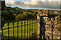 NN8850 : Iron Gateway at St. Mary's Churchyard, Grandtully, Perthshire by Andrew Tryon