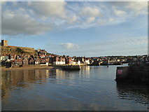 NZ8911 : Entrance to Whitby Harbour by Alpin Stewart