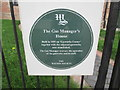 TF9100 : Plaque  in  front  of  the  Gas  Manager's  House  Saham  Road by Martin Dawes