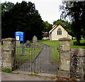 SO3001 : Entrance gates to St Michael's church, Llanfihangel Pontymoel by Jaggery