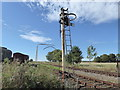 TQ9498 : Signal at Mangapps Railway Museum by Marathon