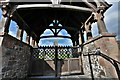 SS5318 : St. Giles in the Wood: Lychgate to St. Giles Church by Michael Garlick