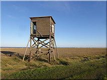 TM0308 : Disused tower on the edge of the salt marsh at Bradwell-on-Sea by Marathon