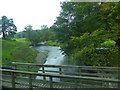 NY3605 : Beside the A591, Rydal Bridge by Robin Drayton
