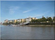 TQ3778 : Isle of Dogs: Masthouse Terrace Pier & Site of the SS Great Eastern Slipway by Nigel Cox
