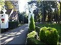 TQ1894 : Entrance to The Manor from Edgwarebury Lane by Marathon