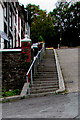 SS9391 : Steps and handrails, Coronation Street, Wyndham by Jaggery