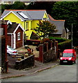 SS9391 : Yellow house and red van, Coronation Street, Wyndham by Jaggery