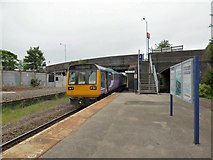 SJ8993 : Stockport bound train at Reddish South by Gerald England