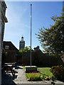 ST8806 : British Legion flagpole, Blandford Forum by Stephen Craven