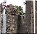 SO2914 : Narrow lane from Princes Street towards Victoria Street, Abergavenny by Jaggery
